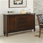 Williamsburg Server in Rich Roasted Chestnut Finish by Coaster 106815
