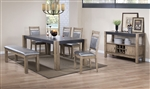 Ludolf 5 Piece Dining Set in Antique Natural Finish by Coaster - 107131