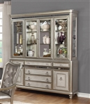 Bling Game Buffet in Metallic Platinum Finish by Coaster - 107314B