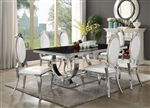 Antoine 5 Piece Dining Set in Glass and Chrome Finish by Coaster - 107871