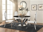 Anchorage 5 Piece Dining Set in Glass and Chrome Finish by Coaster - 107891