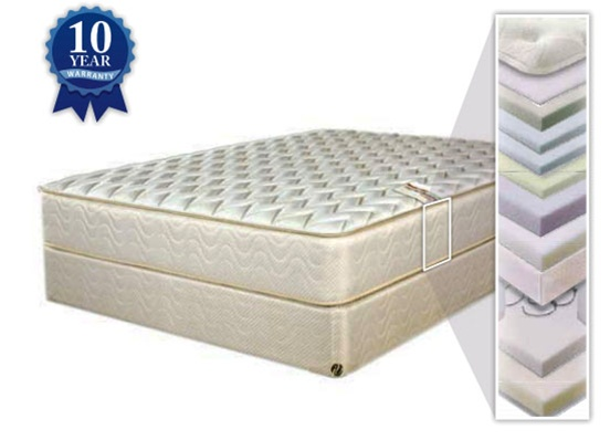 ruby plush euro top 13 inch innerspring queen size mattress by coaster 1082q