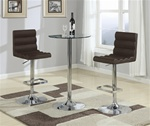 Chrome 3 Piece Bar Table Set by Coaster - 120355