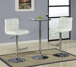 Chrome 3 Piece Bar Table Set by Coaster - 120356