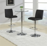Chrome 3 Piece Bar Table Set by Coaster - 120357