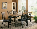 5 Piece Wood and Metal Dining Set by Coaster - 120401
