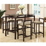 5 Piece Counter Height Dining Table Set by Coaster - 120575