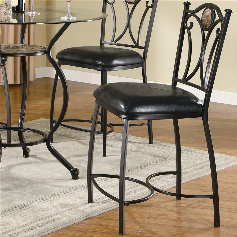 Altamonte Glass Top 5 Piece Counter Height Dining Table