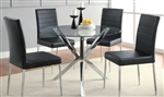 Vance 5 Piece Round Glass Top Dining Set by Coaster - 120760B