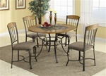 Wood and Metal 5 Piece Dining Set by Coaster - 120771
