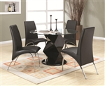 Ophelia 5 Piece Round Glass Top Dining Set by Coaster - 120800