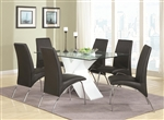 Ophelia 5 Piece Glass Top Dining Set by Coaster - 120821