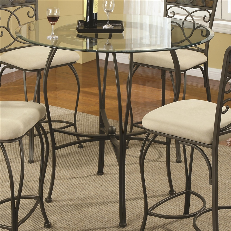 Ardith Glass Top 5 Piece Counter Height Dining Table Set