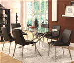 Anderson Glass Top 5 Piece Dining Table Set by Coaster - 120971