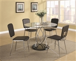 Ciccone Glass Top 5 Piece Dining Table Set by Coaster - 120990