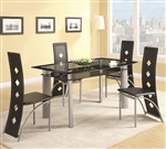 Fontana Glass Top 5 Piece Dining Table Set by Coaster - 121051