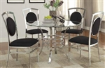Aurora 5 Piece Dining Set with Glass Top Table by Coaster - 121100