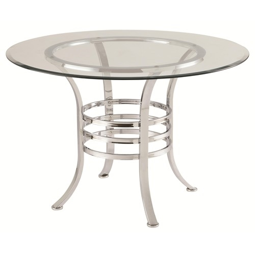 Aurora 5 Piece Dining Set With Glass Top Table By Coaster