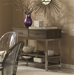 Eldridge Weathered Gray and Chrome Server by Coaster - 121125