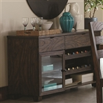 Calabasas Server in Dark Brown Finish by Coaster - 121155