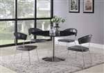 Healy 5 Piece Dining Table Set in Brushed Nickel Finish by Coaster - 121241