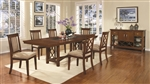 Pembrook 5 Piece Dining Set in Walnut Finish by Coaster - 121671