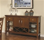 Pembrook Server in Walnut Finish by Coaster - 121675