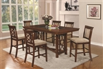 Pembrook 5 Piece Counter Height Dining Set in Walnut Finish by Coaster - 121678