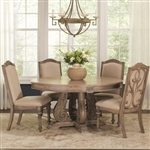 Ilana Traditional 5 Piece Dining Set in Antique Linen Finish by Coaster 122210