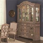 Ilana Traditional Buffet and Hutch in Antique Linen Finish by Coaster 122214