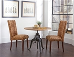 Galway Adjustable Height Table 3 Piece Dining Set in Natural Finish by Coaster - 122221