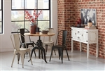 Galway Adjustable Height Table 3 Piece Dining Set in Natural Finish by Coaster - 122221-B