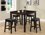Sophia 5 Piece Dining Set in Cappuccino Finish by Coaster - 150088