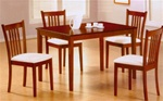 Rich Tobacco Finish 5 Piece Dining Set by Coaster -150091
