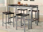 5 Piece Wood and Metal Counter Height Dining Set by Coaster - 150095