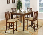 5 Piece Counter Height Dining Set in Cherry Finish by Coaster - 150154