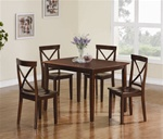 5 Piece Dining Set in Cappuccino Finish by Coaster - 150156