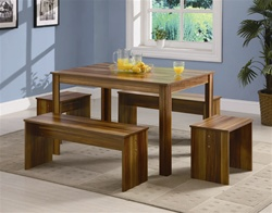 5 Piece Dining Set in Cinder Like Finish by Coaster - 150158