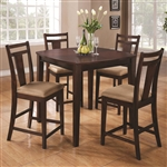 5 Piece Counter Height Set in Espresso Finish by Coaster - 150159