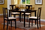 Black Finish 5 Piece Dining Set by Coaster -150181