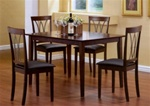Dark Walnut Finish 5 Piece Dining Set by Coaster -150191