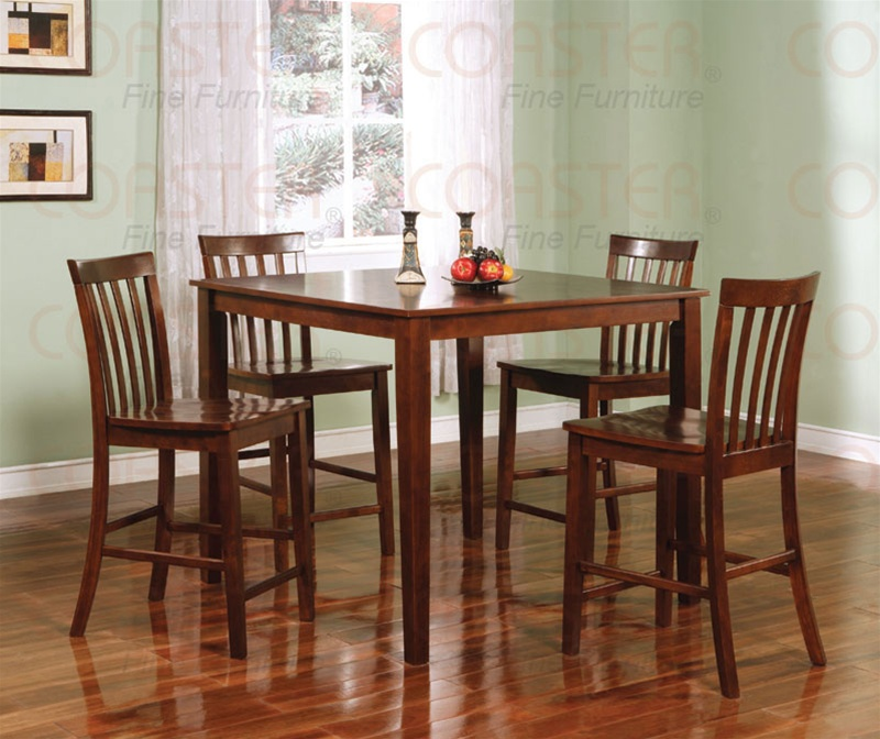 5 Piece Counter Height Dining Set In Walnut Finish By Coaster   150231WLN