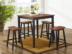 5 Piece Counter Height Dining/Pub Set in Two Tone Finish by Coaster - 150293N