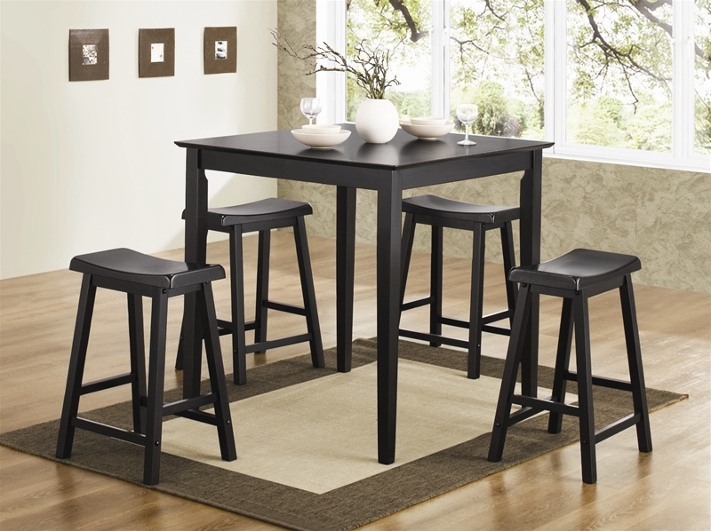 Exceptional 5 Piece Counter Height Dining/Pub Set In White Finish By Coaster   150294N