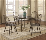 Jade 5 Piece Dining Set in Brown Finish by Coaster - 150331