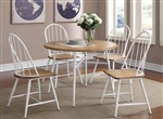 Jade 5 Piece Dining Set in Natural/White Finish by Coaster - 150361