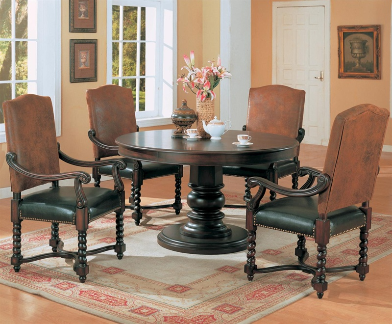 Harrelson 5 Piece Round Table Top Dining Set By Coaster