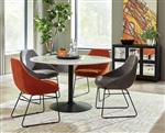Dash 5 Piece Dining Set in Black Finish by Scott Living - 190411-5