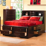 Phoenix Storage Bookcase Bed in Rich Deep Cappuccino Finish by Coaster - 200409Q