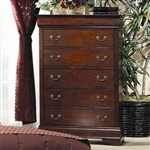 Louis Philippe Chest in Cherry Finish by Coaster - 200435